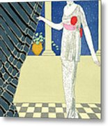 My Guests Have Not Arrived Metal Print by Georges Barbier