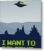 My I Want To Believe Minimal Poster Metal Print by Chungkong Art