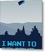 My I Want To Believe Minimal Poster- Tardis Metal Print by Chungkong Art