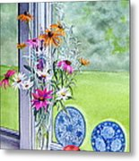 My Kitchen Window Metal Print by Karol Wyckoff