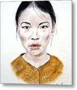 My Kuiama A Young Vietnamese Girl  Metal Print by Jim Fitzpatrick