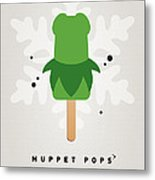 My Muppet Ice Pop - Kermit Metal Print by Chungkong Art