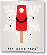 My Nintendo Ice Pop - Mario Metal Print by Chungkong Art