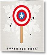 My Superhero Ice Pop - Captain America Metal Print by Chungkong Art
