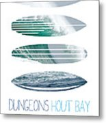 My Surfspots Poster-4-dungeons-cape-town-south-africa Metal Print by Chungkong Art