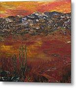 Mystic Desert Metal Print by Linda Eversole