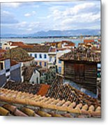Nafplio Rooftops Metal Print by David Waldo