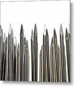 Nails Array Abstract Macro Metal Print by Allan Swart