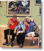 Nap Time At The Louvre Metal Print by Tom Roderick