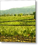 Napa Metal Print by Paul Tagliamonte