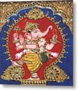 Narthana Ganapathi Metal Print by Jayashree