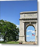 National Memorial Arch At Valley Forge Metal Print by Olivier Le Queinec