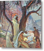 Nativity Metal Print by Frederic Montenard