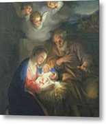 Nativity Scene Metal Print by Anton Raphael Mengs