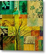 Nature Patchwork Metal Print by Ann Powell