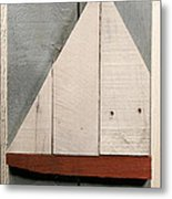 Nautical Wood Art 01 Metal Print by John Turek