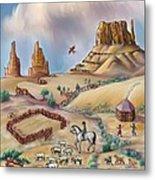 Navajo Sheepherder - Age 11 Metal Print by Dawn Senior-Trask