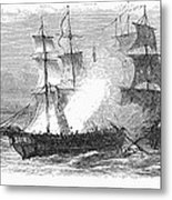 Naval Battle, 1779 Metal Print by Granger