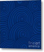 Navy Blue Abstract Metal Print by Frank Tschakert