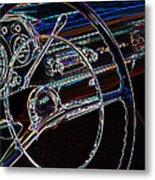 Neon 1957 Chevy Dash Metal Print by Steve McKinzie