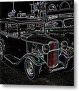 Neon Car Show Metal Print by Steve McKinzie