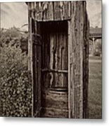 Nevada City Ghost Town Outhouse - Montana Metal Print by Daniel Hagerman