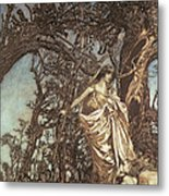 Never So Weary Never So Woeful Illustration To A Midsummer Night S Dream Metal Print by Arthur Rackham