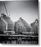 New Apartments In Battersea Metal Print by Lenny Carter