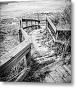 New Buffalo Michigan Boardwalk And Beach Metal Print by Paul Velgos
