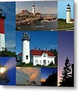 New England Lighthouse Collection Metal Print by Juergen Roth