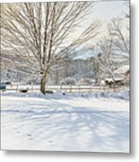 New England Winter Metal Print by Bill Wakeley