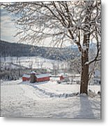 New England Winter Farms Morning Metal Print by Bill Wakeley