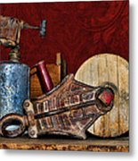 New Life Red Metal Print by Sylvia Thornton