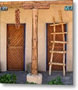 New Mexico Shop Fronts Metal Print by Heidi Hermes