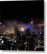 New Year Fireworks IIi Metal Print by Ray Warren