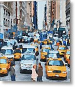 New York 1 Metal Print by Yury Malkov
