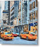 New York 2 Metal Print by Yury Malkov