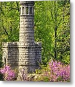 New York At Gettysburg - Monument To 12th / 44th Ny Infantry Regiments-2a Little Round Top Spring Metal Print by Michael Mazaika