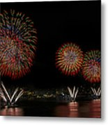 New York City Celebrates The Fourth Metal Print by Susan Candelario