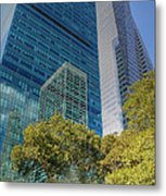 New York City Reflections Metal Print by Bob Hislop