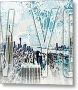 New York Digital-art No.1 Metal Print by Melanie Viola