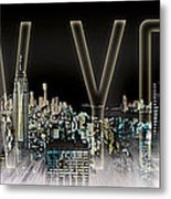 New York Digital-art No.2 Metal Print by Melanie Viola