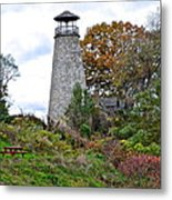 New York Lighthouse Metal Print by Frozen in Time Fine Art Photography