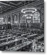 New York Public Library Main Reading Room X Metal Print by Clarence Holmes