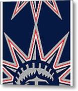 New York Rangers Metal Print by Tony Rubino
