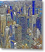 New York Skyline 20130430v2 Metal Print by Wingsdomain Art and Photography