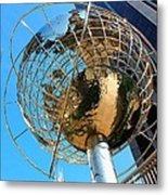 New York Steel Globe Metal Print by Jenny Hudson