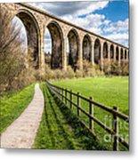 Newbridge Viaduct Metal Print by Adrian Evans
