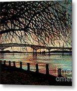 Newburgh Beacon Bridge Sunset Metal Print by Janine Riley