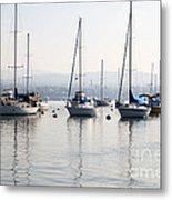 Newport Beach Bay Harbor California Metal Print by Paul Velgos
